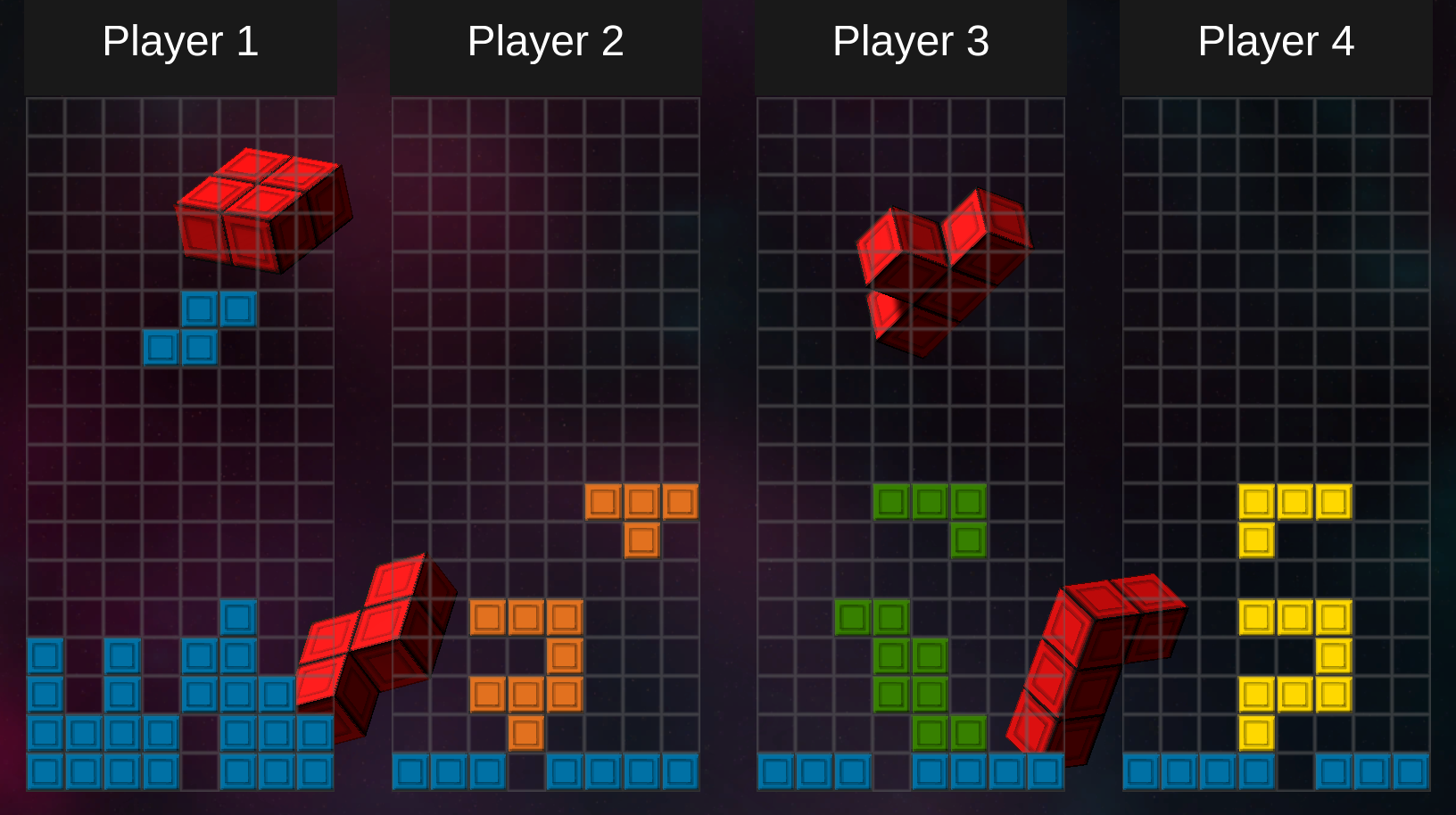 Screenshot of block game from BuzzTest